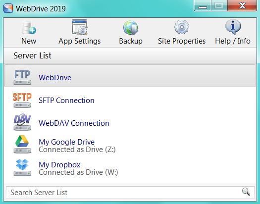 webdrive 2019 screenshot
