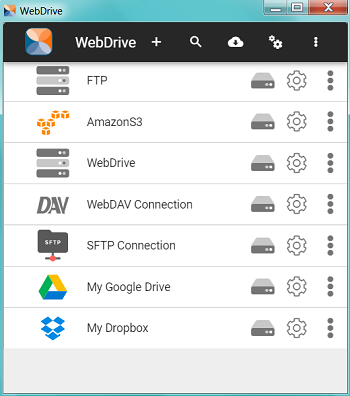 Connect to cloud servers and popular services with WebDrive.